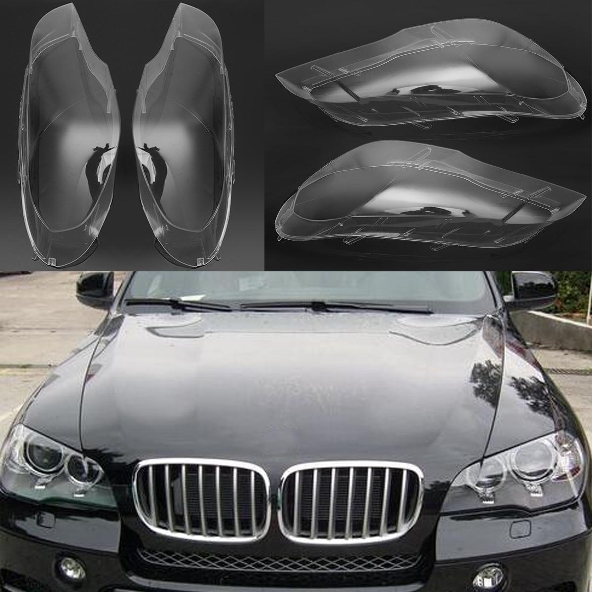1 пара левая и правая прозрачная фара фары Замена объектива Крышка для BMW 2007-2012X5 E70 Автомобильные фары фара лампа чехол