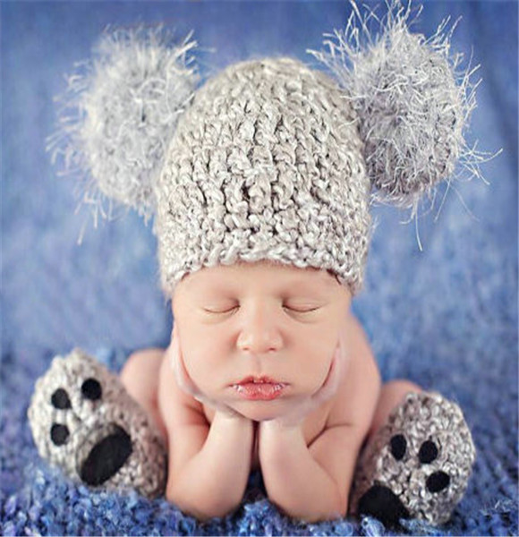 c6ed0ff4d5c 2015 Newborn baby boy hat caps New crochet handmade hat and shoes set Infant  baby beanie boy costume cap photography props