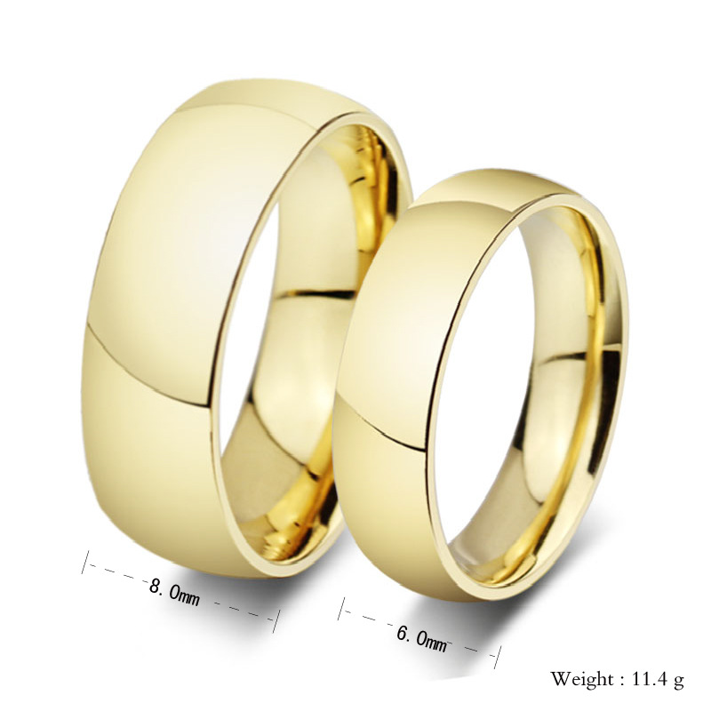 87a9d735352 Promotion 18K gold plated ring wedding rings for men and women stainless  steel couple jewelry wholesale finger rings-in Rings from Jewelry    Accessories on ...