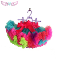 Baby Girls Fluffy Chiffon pettiskirt tutu Girls princess skirt Party  rainbow costume dance wear