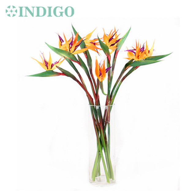 INDIGO 5pcs/Lot Bird Of Paradise Orchids Bouquet Real Touch Wedding ...