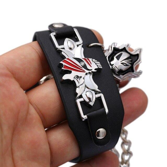 Jewelry Bleach Leather Kurosaki ichigo Link Charm Bracelet