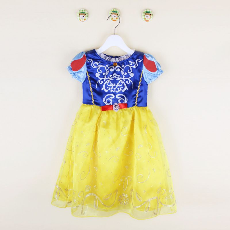 2016 grils dress halloween party costume dress snow princess baby dress christmas gift children clothing party dress