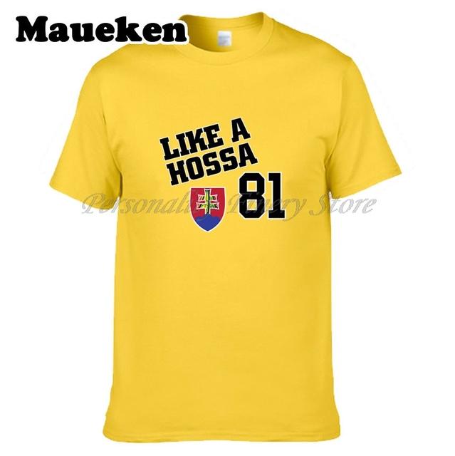 Marian Hossa Slovakia Boss #81 Men Chicago T-shirt Clothes T Shirt Men's for blackhawks fans gift o-neck tee W0305028