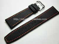 Composite fiber+Genuine Leather Buckle Strap Watch Band Charm Black blue Men Women Watch Strap 21 22mm for branded watchbands