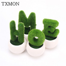 HOME office home garden living room decoration flower simulation plant green fake potted plant bonsai creative artificial flower