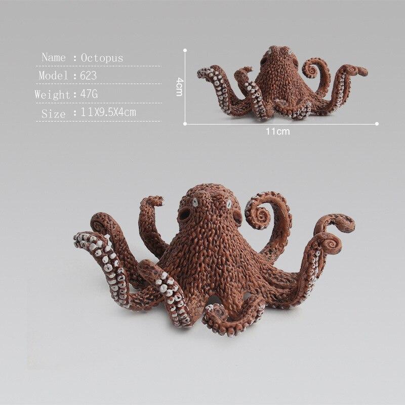 Realista animales acuáticos animales figuras de acción mar vida ...