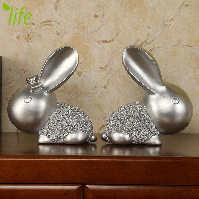 Lover Rabbit խեժ տիկնիկ Հարսանեկան նվեր - Տնային դեկոր - Լուսանկար 2