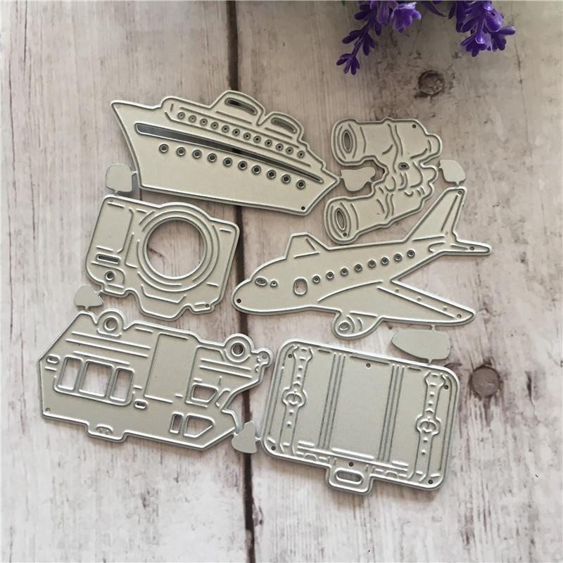 DIY Handicrafts Aircraft Steamship For Metal Cutting Dies Stencil Cuts Album Paper Card Making Decoration Scrapbooking Dies in Cutting Dies from Home Garden