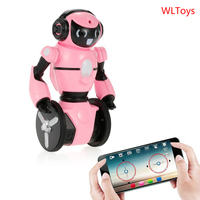 Wltoys F4 RC Robot w/ Wifi FPV 0.3MP HD Camera APP Control Intelligent G sensor Robot Super Carrier RC Robot Toy Gift for Kids