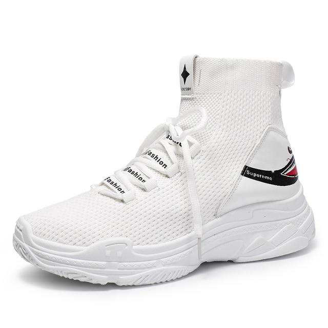Модные носки кроссовки Для женщин Для мужчин вязать дышащая Спортивная обувь коренастый обувь осень высокие кроссовки для Для мужчин Для женщин