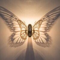 Книги по искусству деко Shadow огни бабочка бра светодиодный настенный светильник прикроватный старинные настенные светильники зеркало в ван