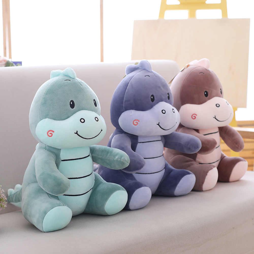 BOM Hot 2019 Nova 3 cores Bonito do Dinossauro de Pelúcia Travesseiro de Pelúcia Para Baixo Algodão Animais Brinquedos de Pelúcia Almofada Travesseiro Presente de Natal boneca