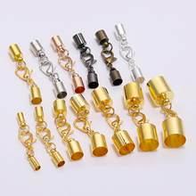 Fermoirs homard pour cordon de cuir pour la fabrication de bijoux, 10 pièces/lot, pour bracelet, crochets 3, 4, 5, 6, 8, 9, 10mm pour sertissages d'extrémité, pointe, bouchons connecteurs