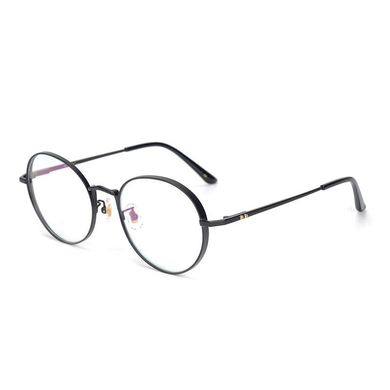 Image 5 - Pure Titanium Glasses Frame Men Round Prescription Eyeglasses Eyewear Vintage Retro Myopia Optical Eye Glasses Women Spectacles-in Men's Eyewear Frames from Apparel Accessories