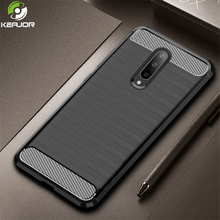 Case For Oneplus 7 Pro Case Carbon Fiber Shockproof Bumper Soft Silicon Armor Back Cover On For Oneplus 7Pro One Plus 7 Pro Case