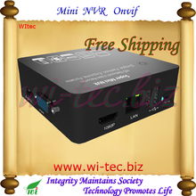 Soporte iPhone 8CH Onvif 1080 P red grabador de vídeo portátil Full HD Super negro Mini NVR para cámara IP HDMI y salida VGA