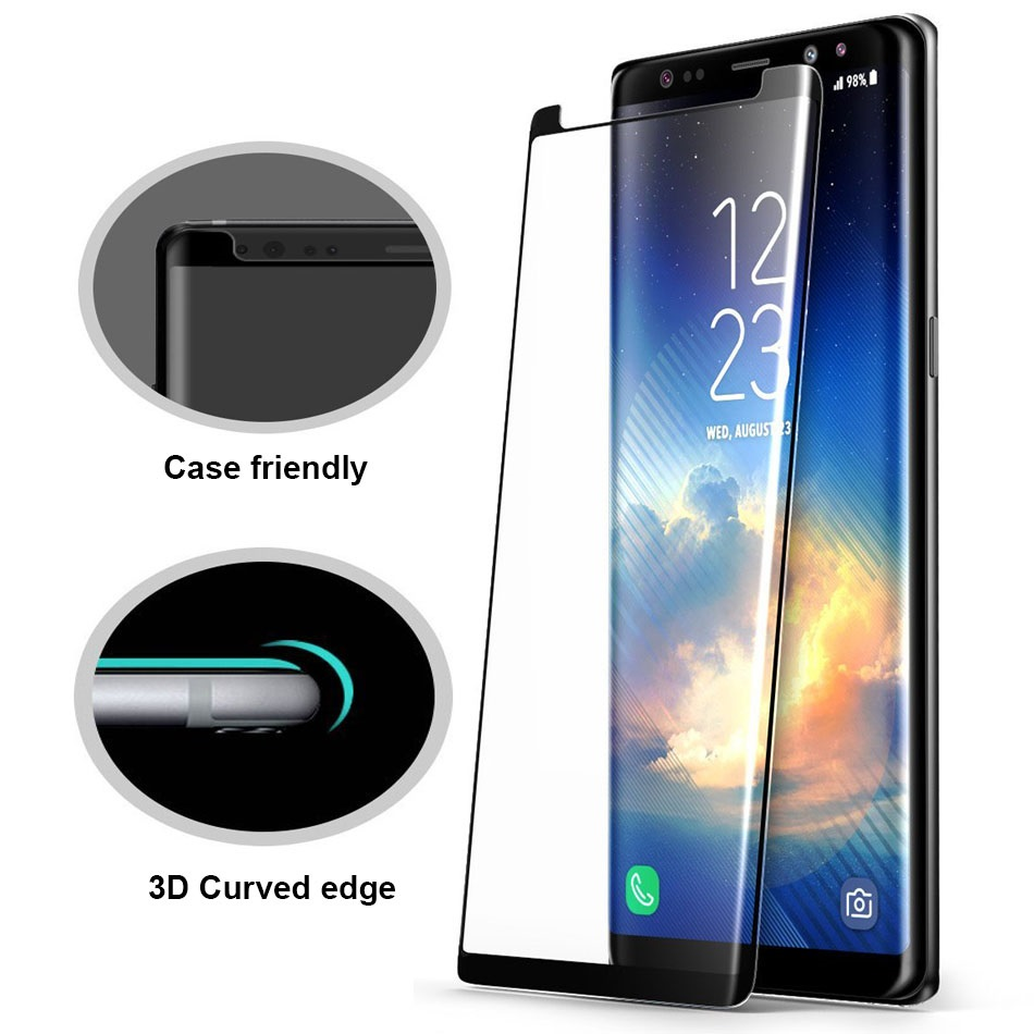 For Samsung Galaxy Note 8 Tempered Glass Note8 3d Log On Anti Shock Screen Protector Gores Iphone 7 Plus Depan Film Case Friendly Not Full Cover In Phone Protectors From