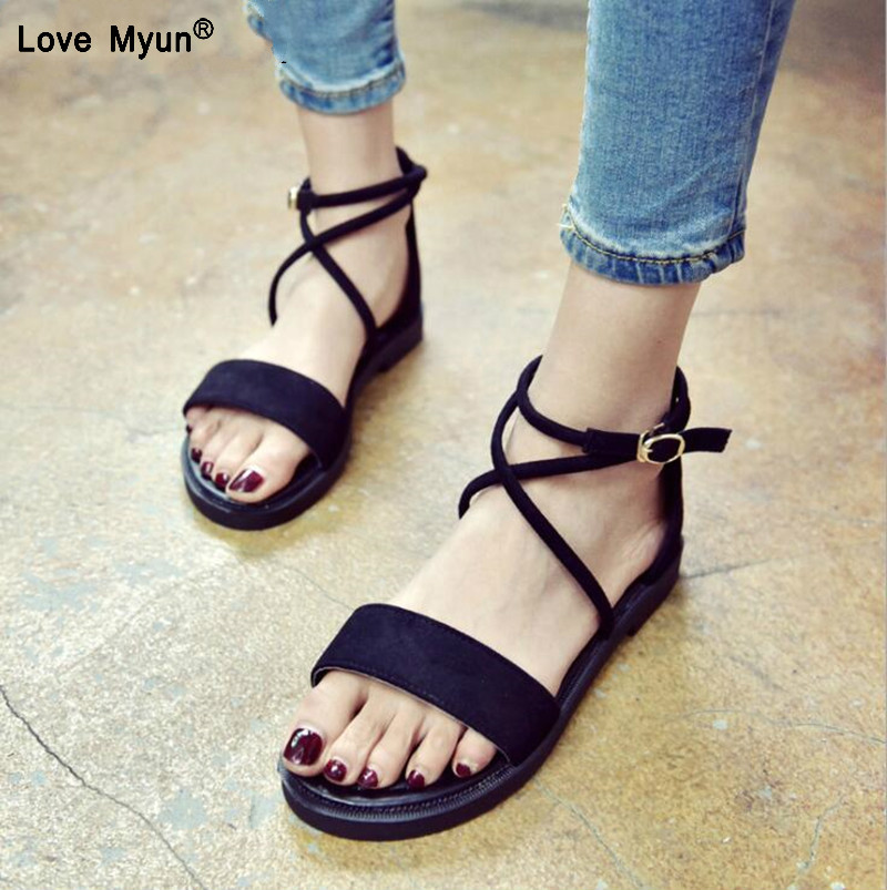 2018 Gladiator Sandals Women Summer Shoes Platform Fashion Women Sandals Casual Occasions Comfortable Female Flats Sandals women creepers shoes 2015 summer breathable white gauze hollow platform shoes women fashion sandals x525 50