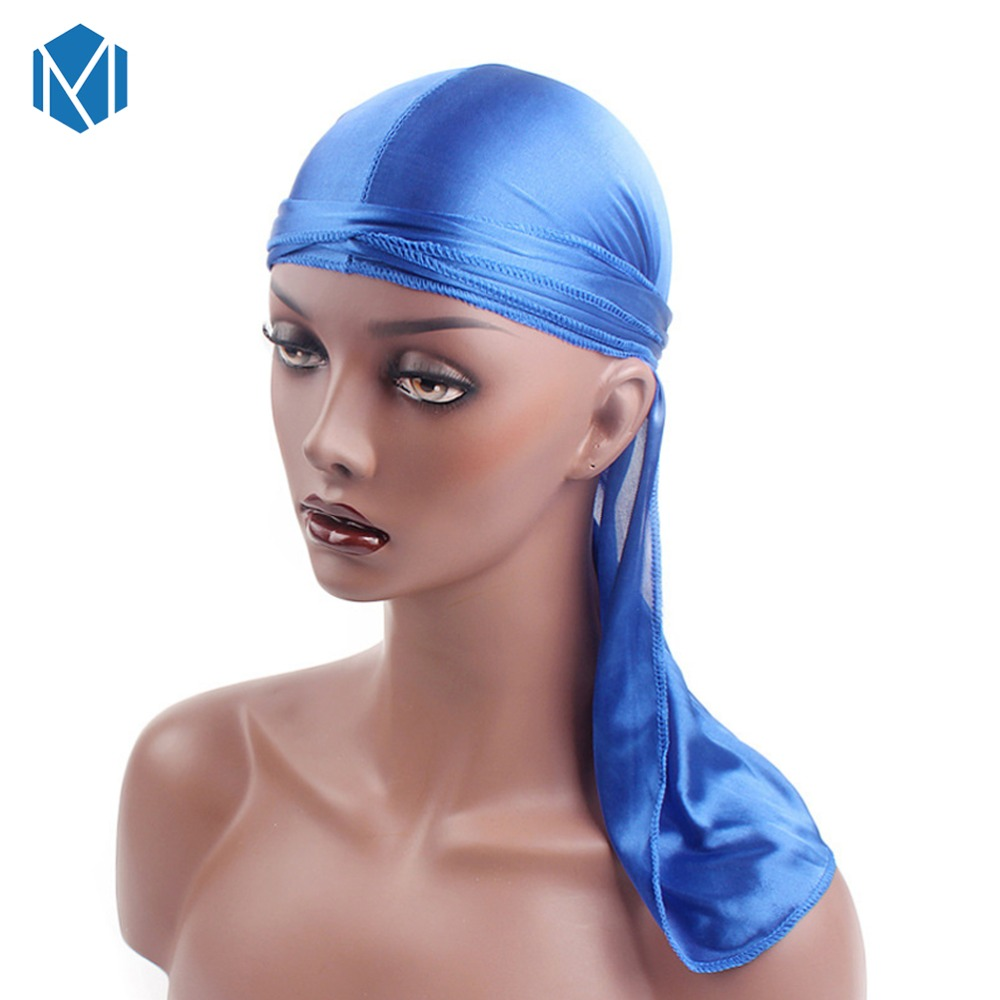 Cool Fashion Men's Satin Durags Bandanna Turban Wigs Men Silk Durag Headwear Headband Pirate Hat Hair Accessories Can Be Repeatedly Remolded.