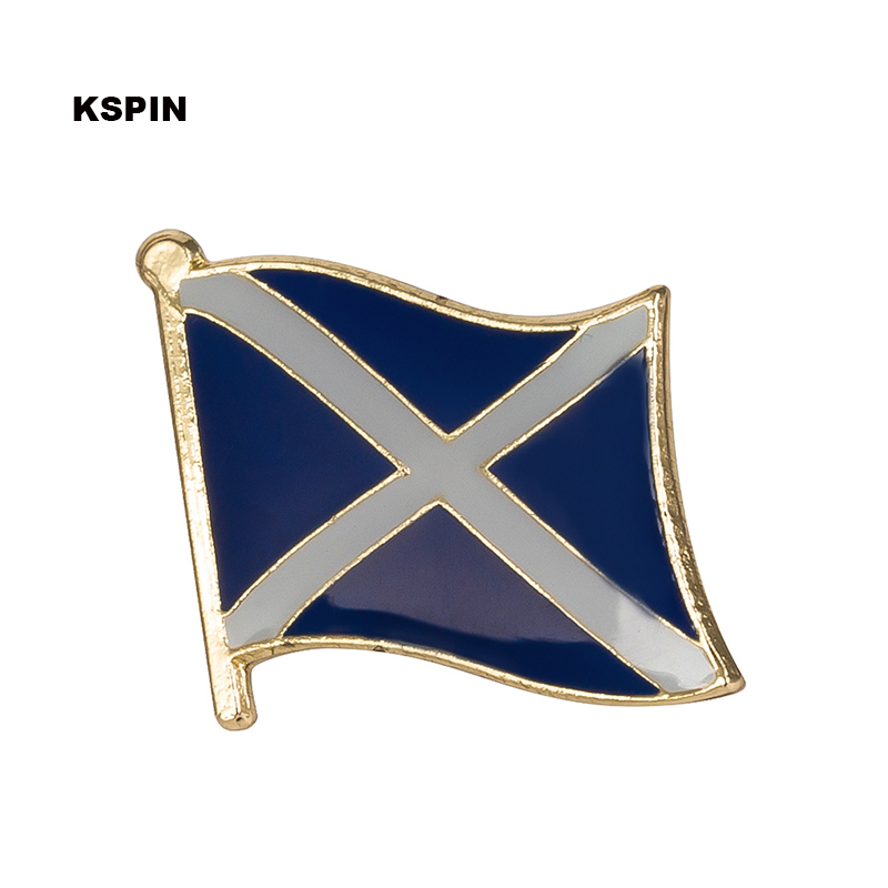SCOTLAND St ANDREW CROSS  Country Flag Metal lapel PIN BADGE ..NEW
