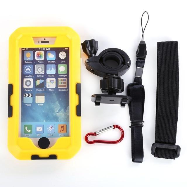 Waterproof Tough Case Motorcycle Bike Handlebar Mount For iPhone 6 Plus 5.5'' Phone Case
