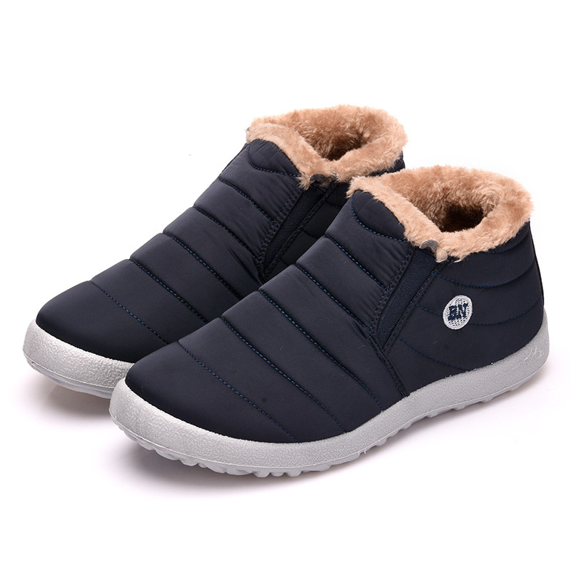 Image 4 - Women Snow Boots Shoes Fashion Keeping Warm Waterproof Slip on Lightweight Women Ankle Boots Winter Flat 35 49 Plus Size Shoe-in Ankle Boots from Shoes