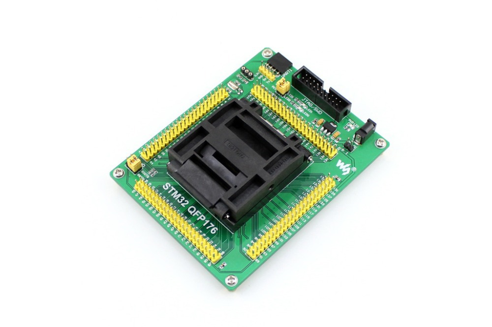 Parts STM32 Socket STM32-QFP176 QFP176 LQFP176 0.5mm Pitch Yamaichi IC51-1764-1505-5 Designed for STM32 MCU Supports JTAG SWD US tms320f28335 tms320f28335ptpq lqfp 176