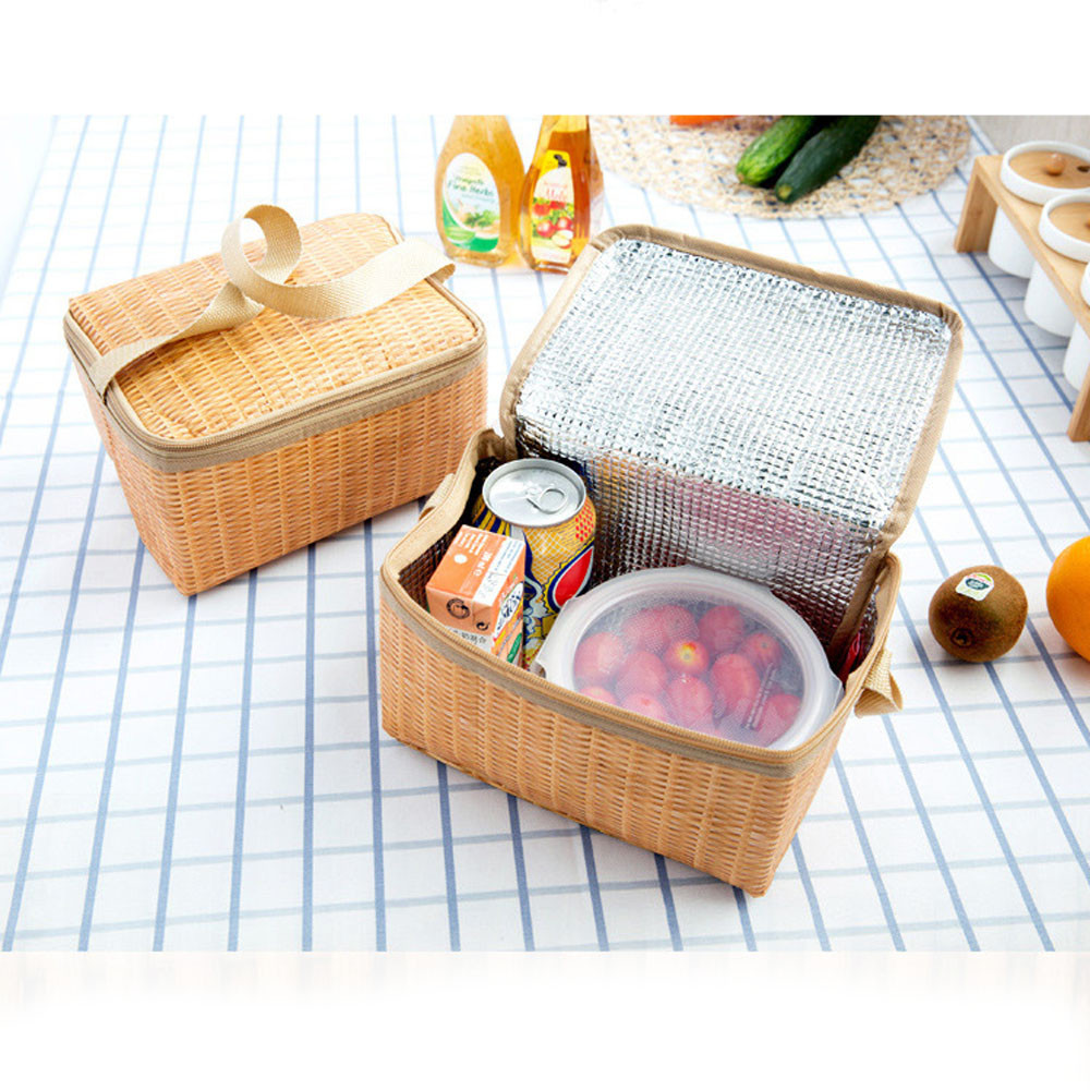 Rattan Lunch Bamboo Bag
