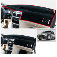 Center console sunscreen dashboard instrument decoration non slip silicone pad mat for peugeot 307 1pc