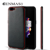 Genuine Leather Case For Oneplus 5 Soft TPU Back Cover Case For Oneplus 5 One Plus