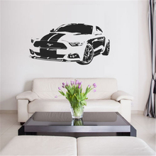 Art Decor Mustang Muscle Car V8 Quote Wall Sticker Decal Boys room Games Bar for kids rooms Living Bedroom Mural D818