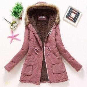 Image 3 - Ftlzz 2020 新パーカー女性の冬のコート肥厚綿の冬のジャケットレディース生き抜くのパーカー女性