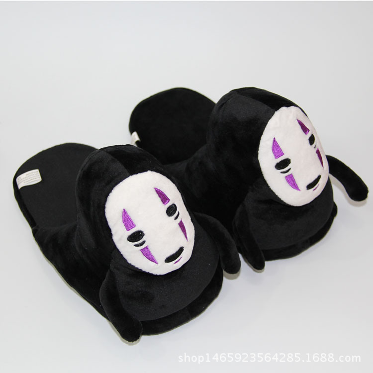 Spirited Away No face male Wool cloth with soft nap slipper doll toy indoor household Cotton mop Cosplay Props