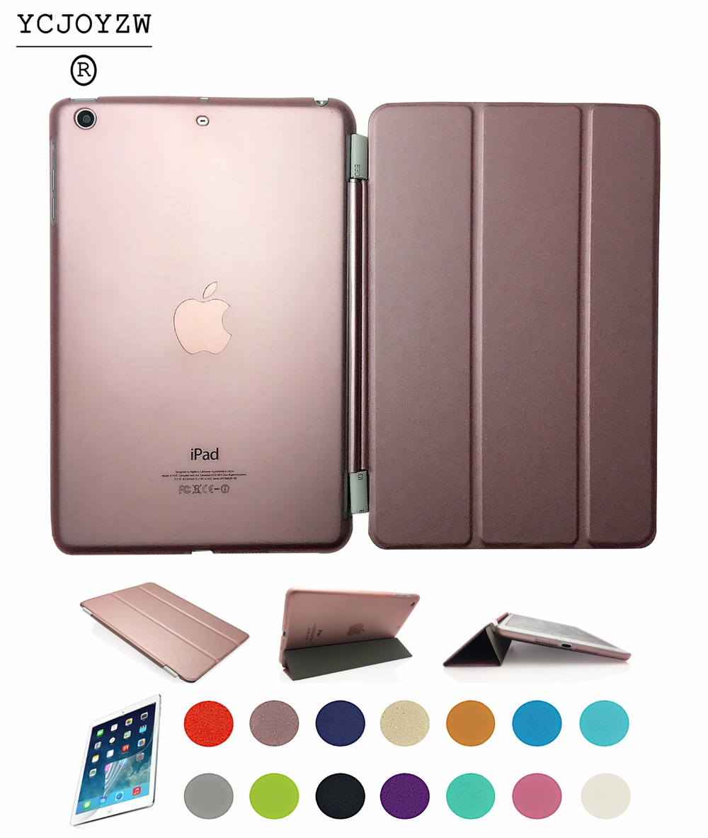 Case for Apple ipad Pro 9.7 inch,PU Leather Slim Magnetic Front Smart Cover Skin + Hard PC Back -Sleep wake up intelligent case