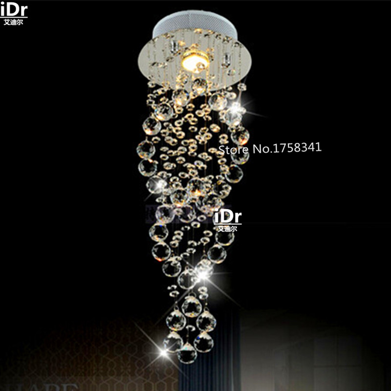 Modern crystal chandelier penthouse stair lamp door long living room dining lamp 100% quality guarantee все цены