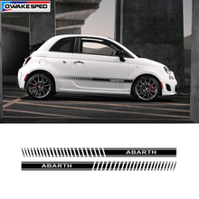 Car Styling Abarth Lato Gonna Strisce di Auto Del Corpo Decor Sticker Racing Stripes Per Fiat 500 Bravo Palio Accessori Esterni