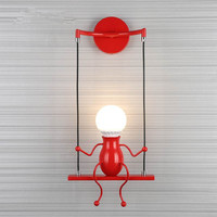 2018 Modern LED Wall Light Creative Figure Mounted Wall Lamp Sconce Home Fixtures for Children's Bedroom Corridor luminaria led