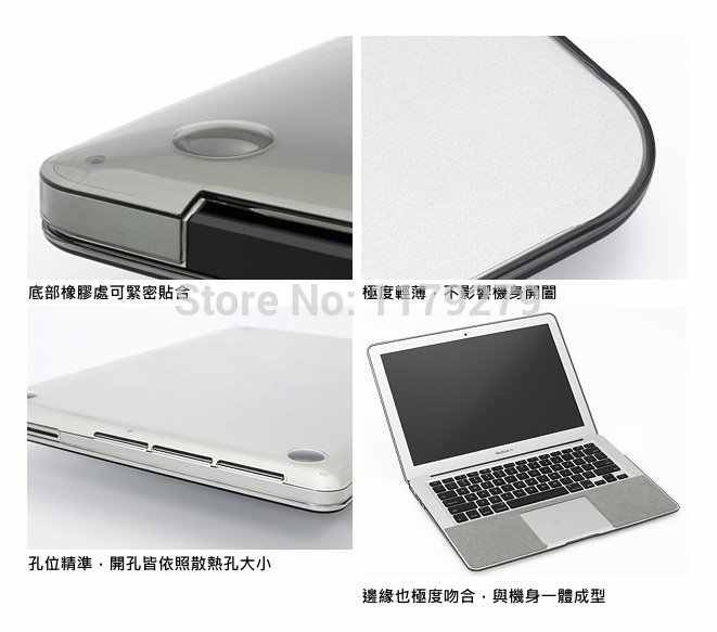 2in1 High transparent Clear Protective Case Cover for Mac Apple Macbook Air  13 11 2017 2015 + Silicone keyboard cover 11 6 13 3