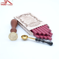 Popular Wine Red Sealing Wax Stick With Initial Letter Stamp A Z For DIY Manuscripting Wedding