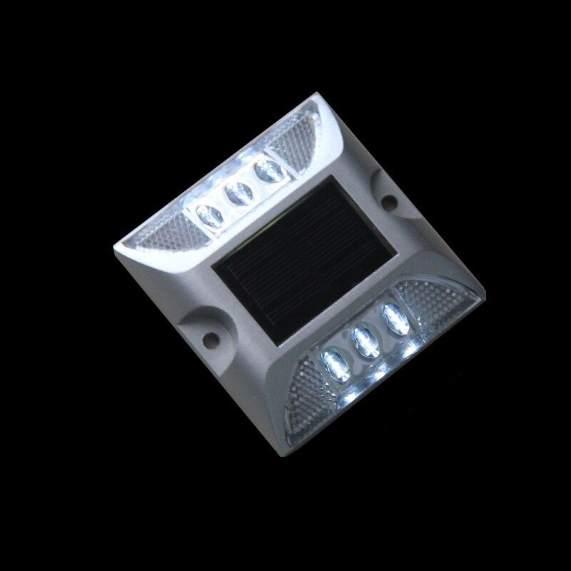 6led Solar Road Reflectors Waterproof Walkway Safety Mark