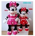75 cm de Alta Calidad lindo juguetes de felpa de Mickey o Minnie muñeca un par de amantes de los regalos de cumpleaños 1 unids/lote 30 pulgadas