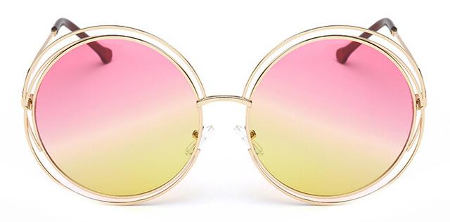 Vintage Metal Frame Round Big Size lens Sunglasses