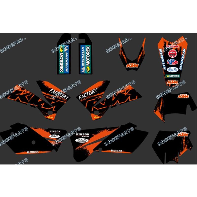 35 PIECES DECAL STICKER KIT IN MX VINYL FITS KTM EXC 450  2003 2005