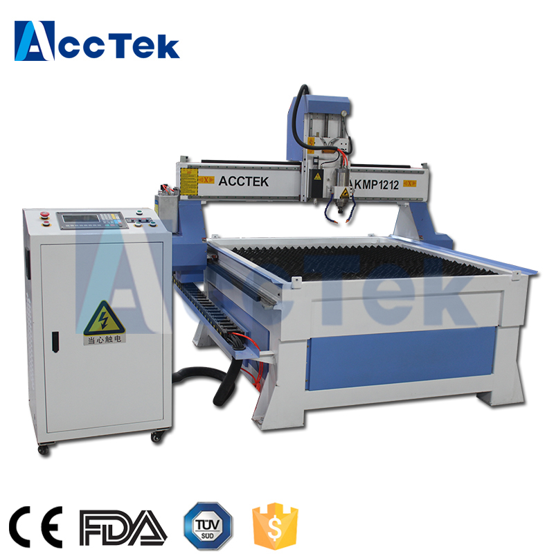 Professional Manufacturer Furniture Tools Plasma Cutter Cnc Router Machine For Both Wood And Metal With CE Certification