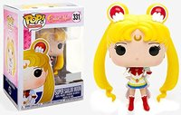 Exclusive Funko pop Official Super Sailor Moon in Crisis Outfit #331 Vinyl Action Figure Collectible Model Toy with Original Box