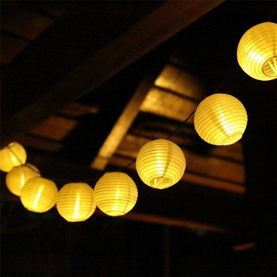 Thrisdar Outdoor Lantern Ball Solar Led String Fairy Light 10 20 30 LED Patio Party Wedding Solar Globe Garland Fairy Light