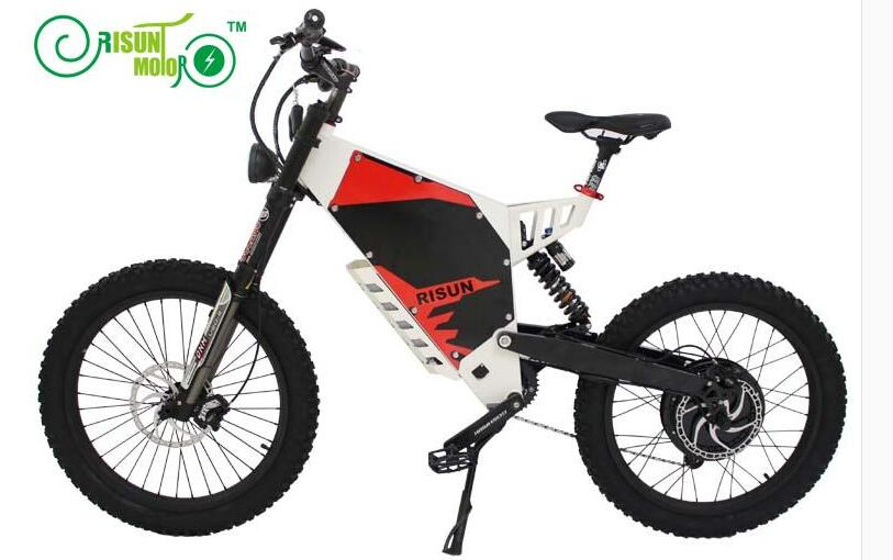 Exclusive Customized Electric Bicycle Frame /eBike Mountain 72V 3000W Motor Black Or White Frame - 6