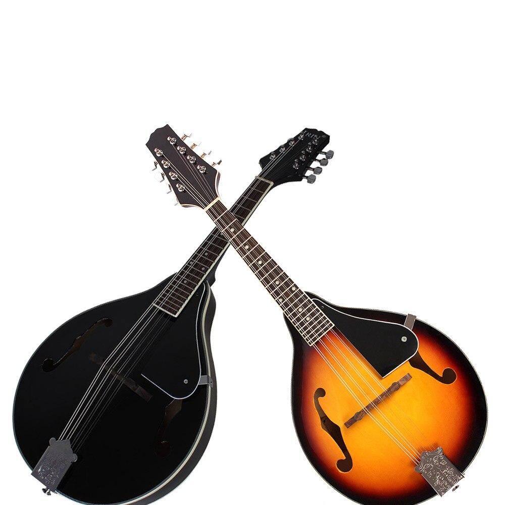 UM Estilo 8 Cordas Basswood Bandolim Ukulele Instrumento Musical com Rosewood Bandolim Cordas De Aço Guitarra Instrumento Ajustável