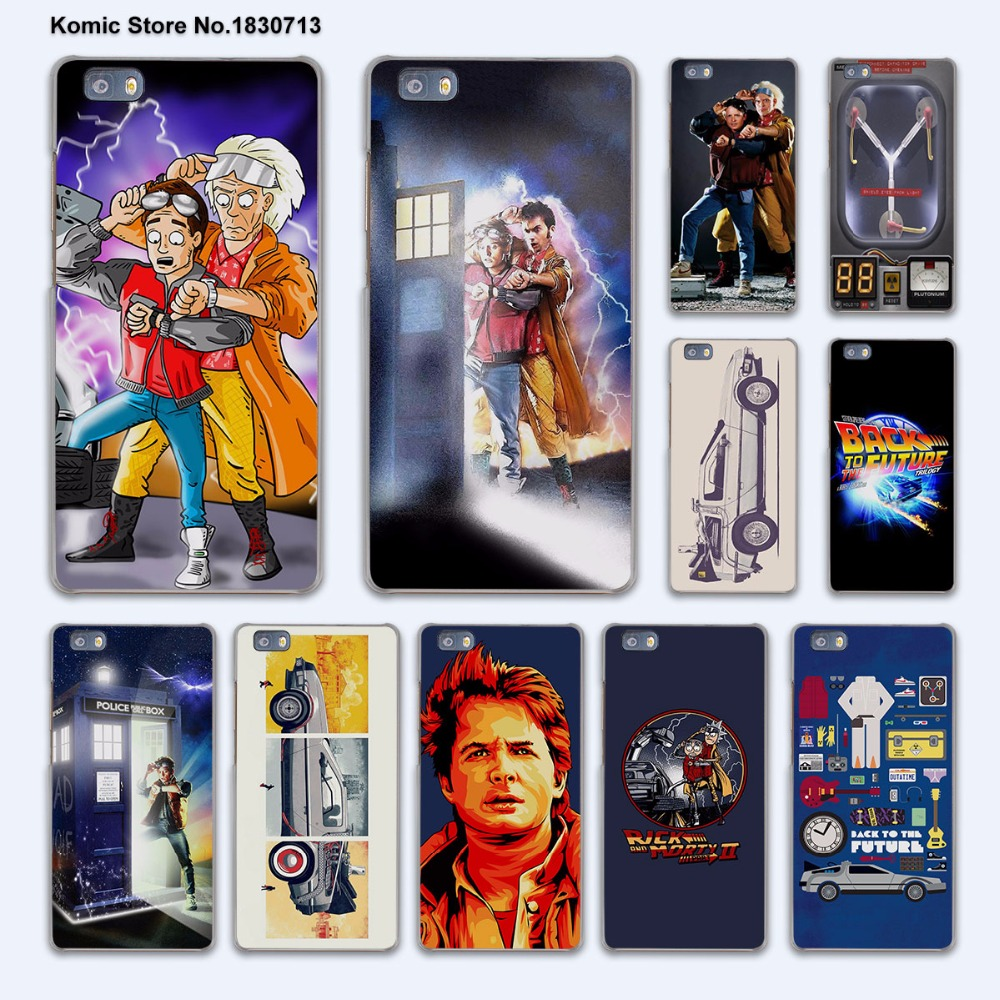 Back To The Future boy hard transparent phone Cover Case for huawei P9 P8 Lite P9Plus P7 Mate 9 Mate S 8 7